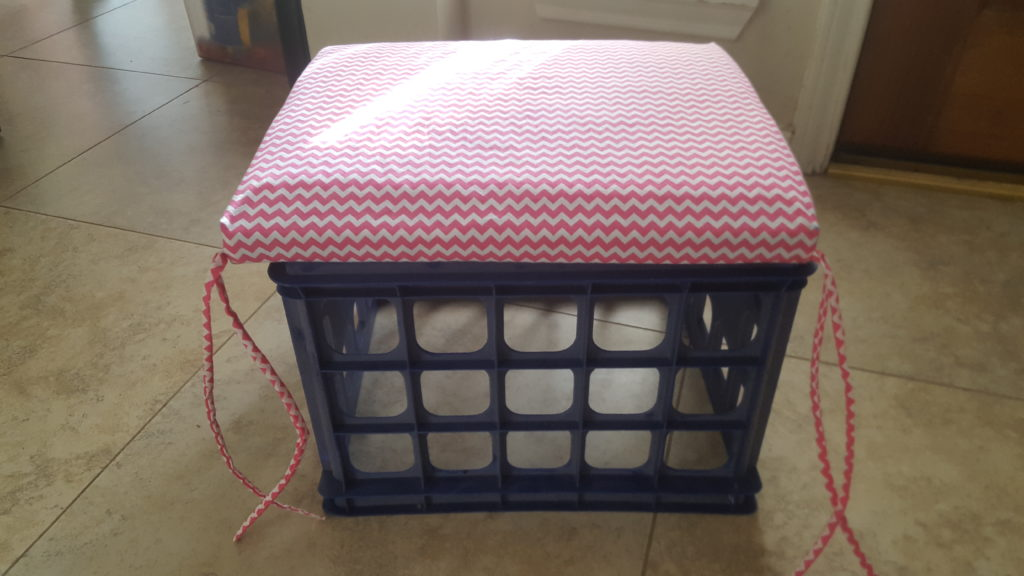 Washable Milk Crate Chair Cushion www.thisautoimmunelife.com