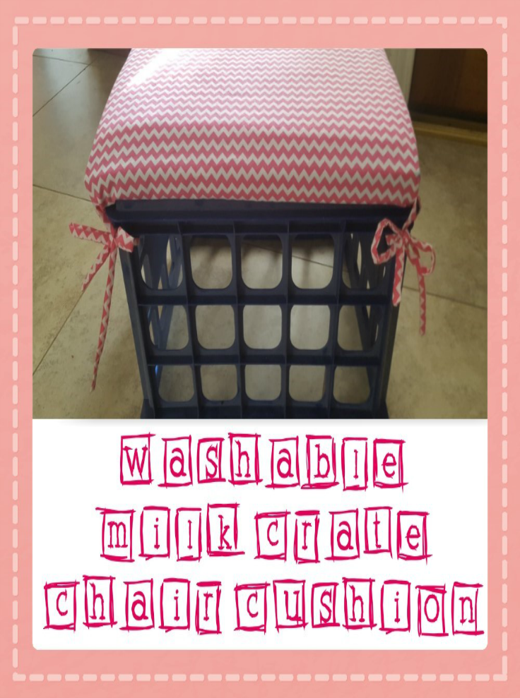 Washable Milk Crate Chair Cushion