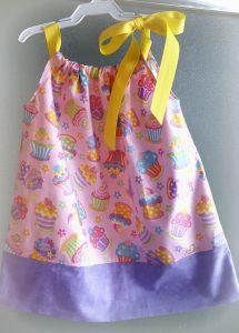 Pillowcase Dress from Fat Quarters from www.thisautoimmunelife.com for February craft destash #craftdestash #pillowcasedress #fatquarter #baby