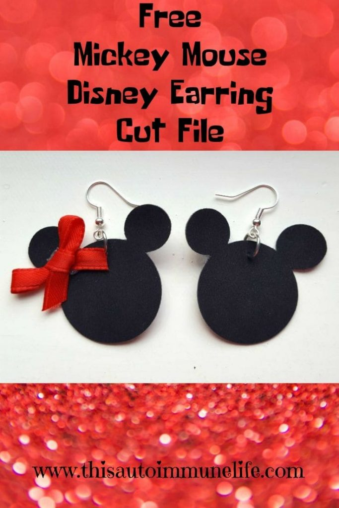 Mickey Mouse Disney Earrings Free Cut File from www.thisautoimmunelife.com #MickeyMouse #MinnieMouse #Disney #DisneyEarrings