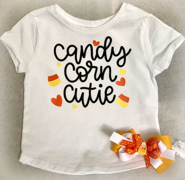 Corn Cutie Outfit from www.thisautoimmunelife.com #candycorncutie #Halloween #cricut #freesvg