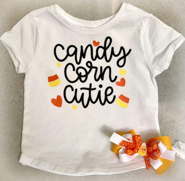 Corn Cutie Outfit from www.thisautoimmunelife.com #candycorncutie #Halloween #cricut #freesvg