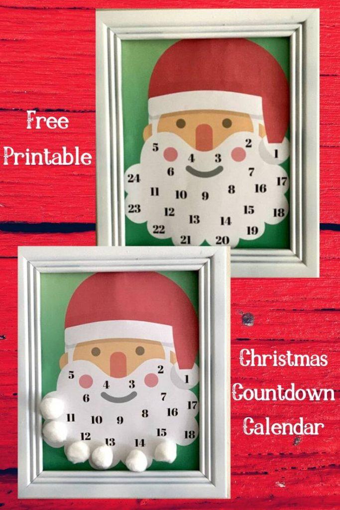 Free Printable Christmas Countdown Calendar from www.thisautoimmunelife.com #Christmas #countdown #calendar