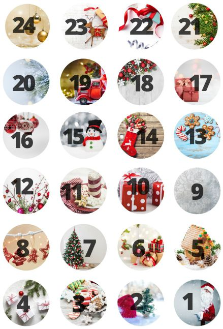 Christmas Countdown Stickers from www.thisautoimmunelife.com #Christmas #countdown #stickers