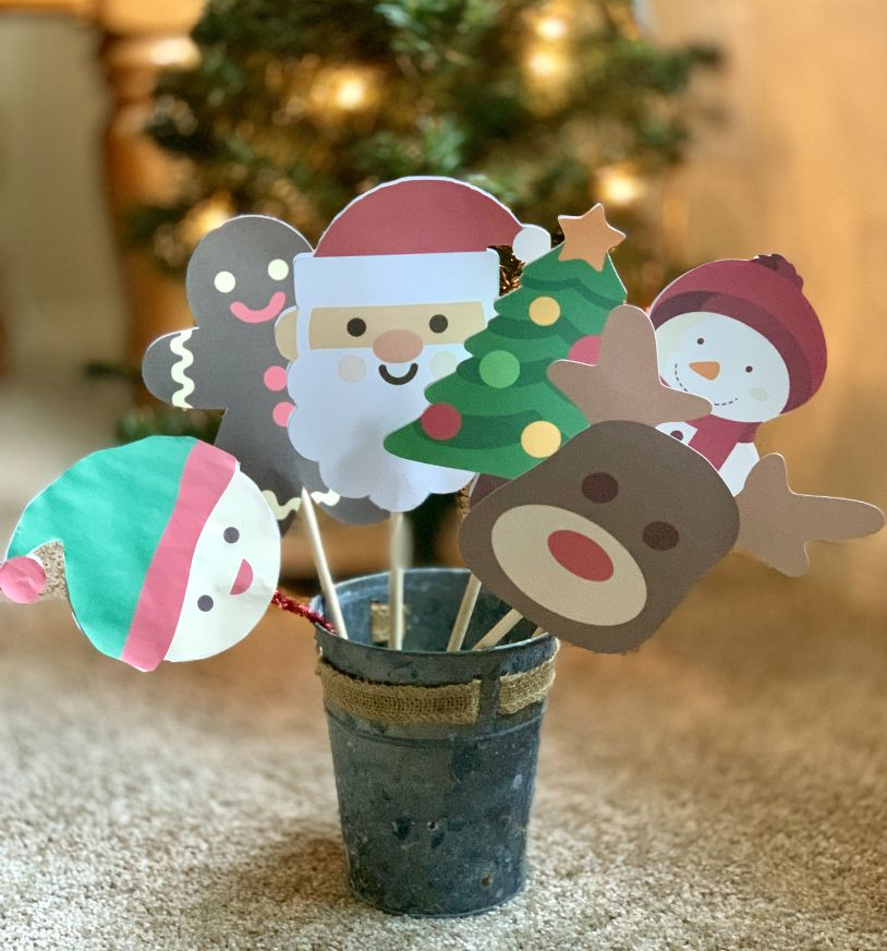 Free Printable Kids Christmas Puppets from www.thisautoimmunelife.com #Christmas #puppets #free #printable