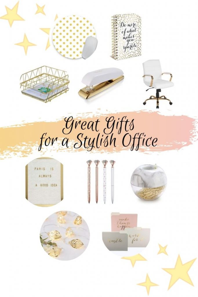 Great Gifts for a Stylish Office from www.thisautoimmunelife.com #stylishoffice #goldoffice #girloffice