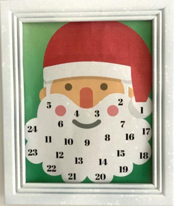 Free Printable Santa Christmas Countdown Calendar from www.thisautoimmunelife.com #countdown #Christmas #calendar
